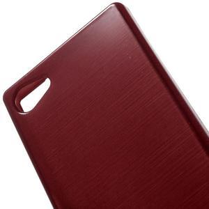 Brush gelový obal na Sony Xperia Z5 Compact - červený - 4