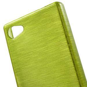 Brush gelový obal na Sony Xperia Z5 Compact - zelený - 4