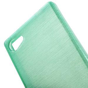 Brush gelový obal na Sony Xperia Z5 Compact - cyan - 4