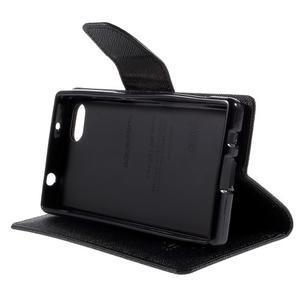 Fancy PU kožené pouzdro na Sony Xperia Z5 Compact - černé - 4