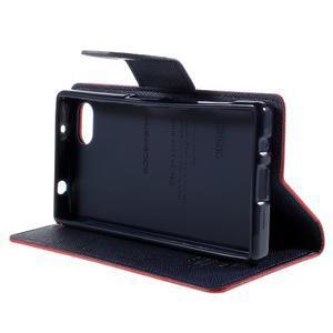 Fancy PU kožené pouzdro na Sony Xperia Z5 Compact - červené - 4