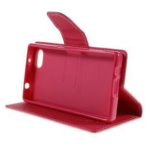 Fancy PU kožené pouzdro na Sony Xperia Z5 Compact - růžové - 4
