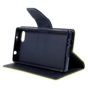 Fancy PU kožené pouzdro na Sony Xperia Z5 Compact - zelené - 4