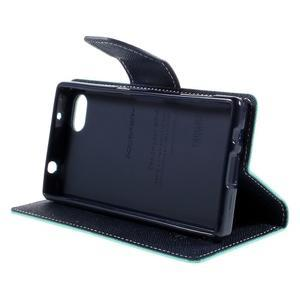 Fancy PU kožené pouzdro na Sony Xperia Z5 Compact - cyan - 4