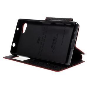 Pouzdro s okýnkem na Sony Xperia Z5 Compact - červené - 4