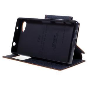 Pouzdro s okýnkem na Sony Xperia Z5 Compact - oranžové - 4