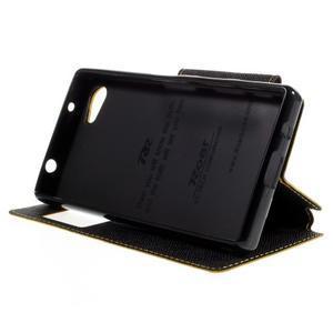 Pouzdro s okýnkem na Sony Xperia Z5 Compact - žluté - 4