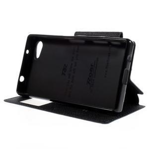 Pouzdro s okýnkem na Sony Xperia Z5 Compact - tmavěmodré - 4
