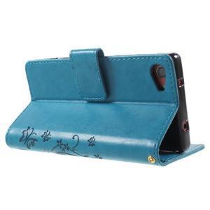Butterfly peněženkové pouzdro na Sony Xperia Z5 Compact - modré - 4