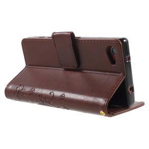 Butterfly peněženkové pouzdro na Sony Xperia Z5 Compact - hnědé - 4