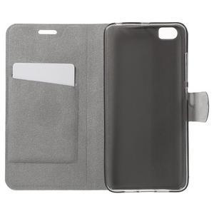 Horse peněženkové pouzdro na mobil Xiaomi Mi5 - modré - 4