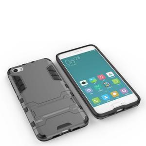 Hybridní odolný kryt na mobil Xiaomi Mi5 - šedý - 4