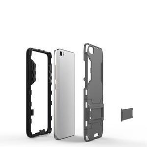 Hybridní odolný kryt na mobil Xiaomi Mi5 - šedomodrý - 4