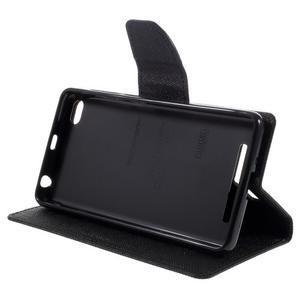 Diary PU kožené pouzdro na mobil Xiaomi Redmi 3 - černé - 4