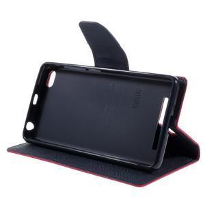 Diary PU kožené pouzdro na mobil Xiaomi Redmi 3 - rose - 4