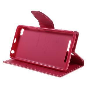 Diary PU kožené pouzdro na mobil Xiaomi Redmi 3 - růžové - 4