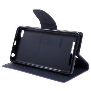 Diary PU kožené pouzdro na mobil Xiaomi Redmi 3 - fialové - 4