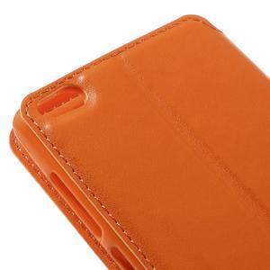 Luxy PU kožené pouzdro s okýnkem na Xiaomi Redmi 3 - ooranžové - 4