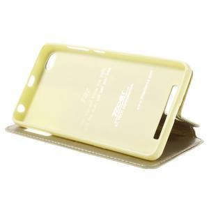 Luxy PU kožené pouzdro s okýnkem na Xiaomi Redmi 3 - zlaté - 4