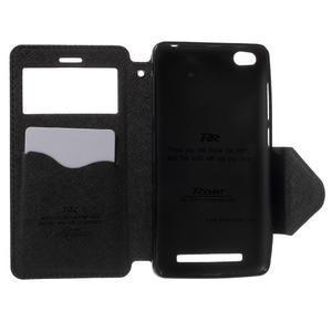 Diary view peněženkové pouzdro na Xiaomi Redmi 3 - černé - 4
