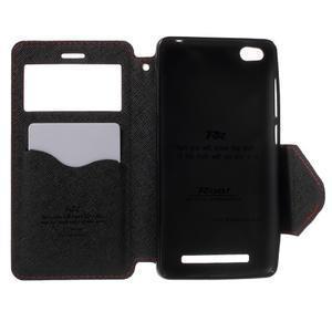 Diary view peněženkové pouzdro na Xiaomi Redmi 3 - červené - 4