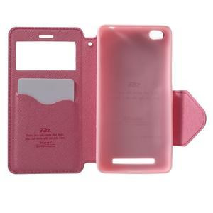 Diary view peněženkové pouzdro na Xiaomi Redmi 3 - rose - 4