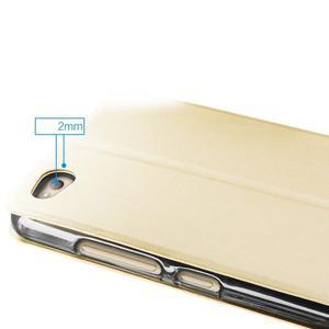 Vintage PU kožené pouzdro na Xiaomi Redmi 3 - zlaté - 4