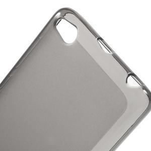 Matné gelové pouzdro na mobil Xiaomi Redmi 3 - šedé - 4