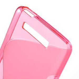 S-line gelový obal na mobil Xiaomi Redmi Note 2 - rose - 4