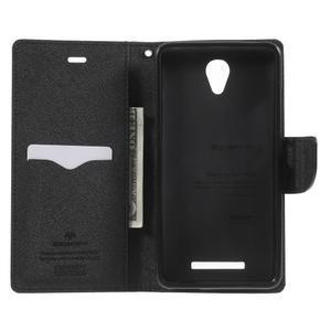 Goos PU kožené pouzdro na Xiaomi Redmi Note 2 - černé - 4
