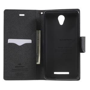 Goos PU kožené pouzdro na Xiaomi Redmi Note 2 - hnědé - 4