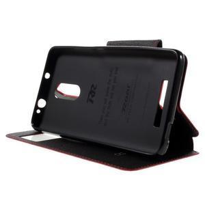 Diary pouzdro s okýnkem na mobil Xiaomi Redmi Note 3  - červené - 4