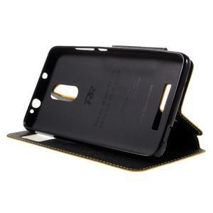 Diary pouzdro s okýnkem na mobil Xiaomi Redmi Note 3  - žluté - 4