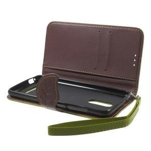 Leaf peněženkové pouzdro na Xiaomi Redmi Note 3 - zelené - 4