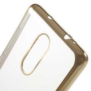 Gelový obal se zlatým lemem na Xiaomi Redmi Note 3 - 4