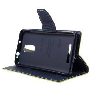 Wallet PU kožené pouzdra na Xiaomi Redmi Note 3 - zelené - 4