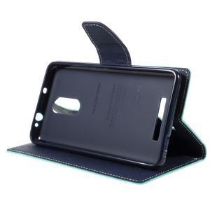 Wallet PU kožené pouzdra na Xiaomi Redmi Note 3 - azurové - 4