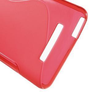 S-line gelový obal na Xiaomi Redmi Note 3 - červený - 4