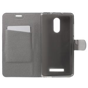 Horse PU kožené pouzdro na Xiaomi Redmi Note 3 - černé - 4