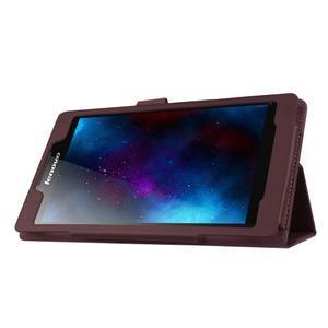 Dvoupolohové pouzdro na tablet Lenovo Tab 2 A7-20 - tmavěhnědé - 4