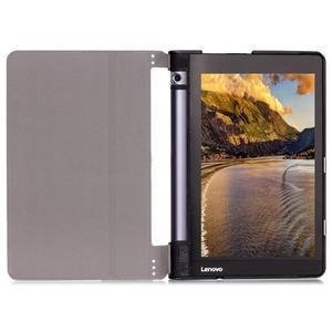 Polohovatelnotelné PU kožené pouzdro na Lenovo Yoga Tab 3 8.0 - světlemodré - 4