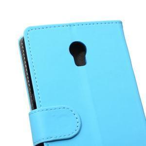 Peňaženkové puzdro pre Lenovo Vibe P1 - modré - 4