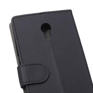 Peněženkové pouzdro na Lenovo Vibe P1 - černé - 4