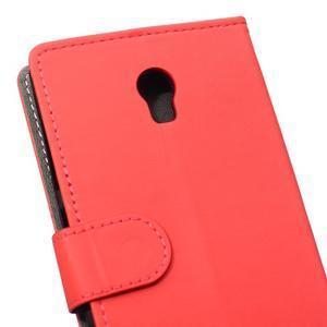 Peněženkové pouzdro na Lenovo Vibe P1 - červené - 4