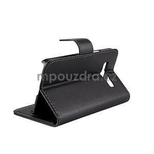PU kožené pouzdro na Samsung Galaxy A3 - černé - 4