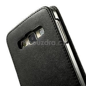 PU kožené flipové pouzdro na Samsung Galaxy A3 - černé - 4