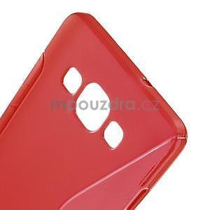 Gelové s-line pouzdro na Samsung Galaxy A3 - červená - 4