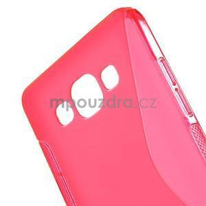 Gelové s-line pouzdro na Samsung Galaxy A3 - růžová - 4