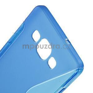 Gelové s-line pouzdro na Samsung Galaxy A3 - modrá - 4