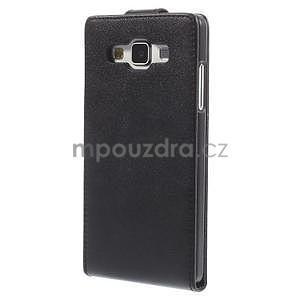 PU kožené flipové pouzdro na Samsung Galaxy A5 - černé - 4